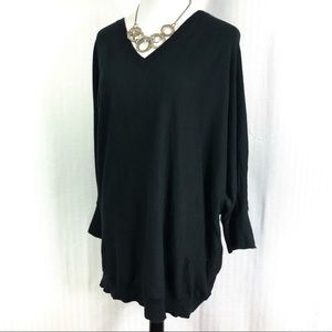 Chaps Vee Neck and Back Dolman Sweater Size 3X